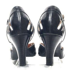 Perforated black Mary Jane CLARKS Artisan #31604